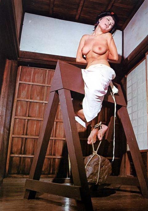 【※ドS注意※】『三角木馬』で責めてる画像を集めた結果・・・ → 闇深すぎぃwwwwwwwwwww(画像あり)・4枚目