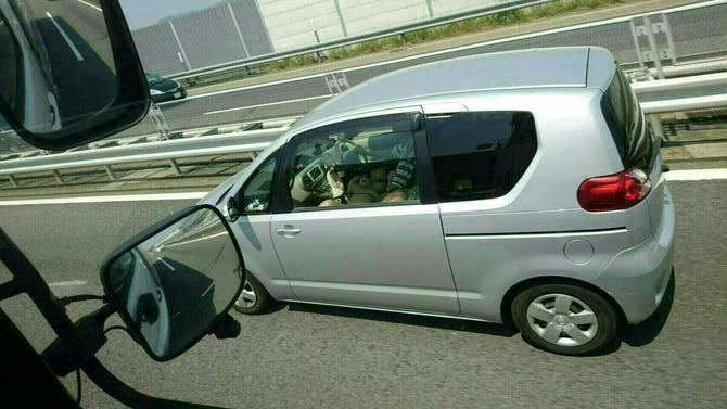 【※事故不可避】高速道路で追い越し車線を走行中の車で全裸女がヤバイ事してるの見つけたったwwwwwwwwwwww(画像あり)・1枚目