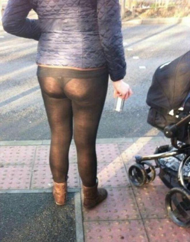【※女性注意】まんの者「白スパッツは透けるからー黒にしといたろ!」 →貴方の尻はこうなっているwwwwww(画像あり)・1枚目