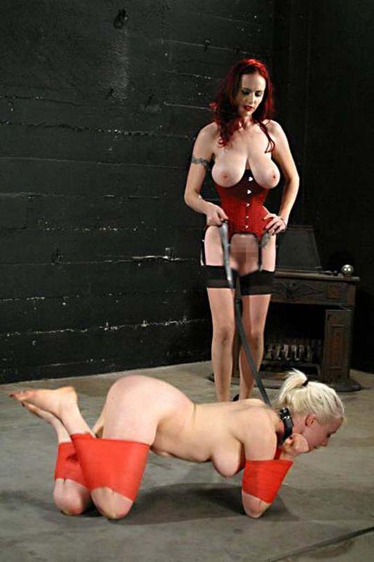 【鬼畜】「犬緊縛」とかいうプレイで調教された女性がこちら。もう拷問やろwwwwwwwwwwww(画像あり)・15枚目