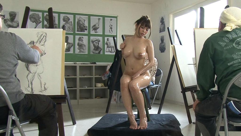 【※エロ画像】「これは芸術ですっ!」ヌードデッサンでSEXさせる異例な光景wwwwwwwwwwwww・10枚目