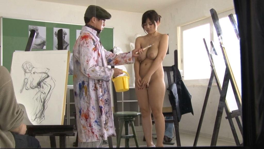 【※エロ画像】「これは芸術ですっ!」ヌードデッサンでSEXさせる異例な光景wwwwwwwwwwwww・2枚目