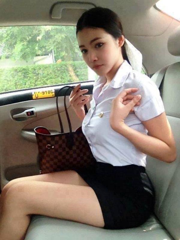 【画像あり】制服が嬢にしか見えないタイの女子大生をご覧下さい。 40枚・7枚目