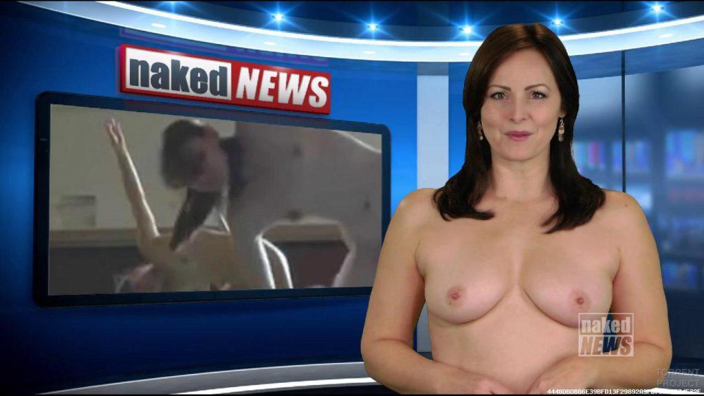 露出癖のある美人女子アナさん、生放送中に脱ぎ出す放送事故wwwwwwwww(※GIFあり)・25枚目