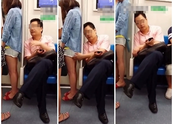 【※驚愕】地下鉄に現る痴漢魔の犯行現場がこちら・・・・・・・3枚目
