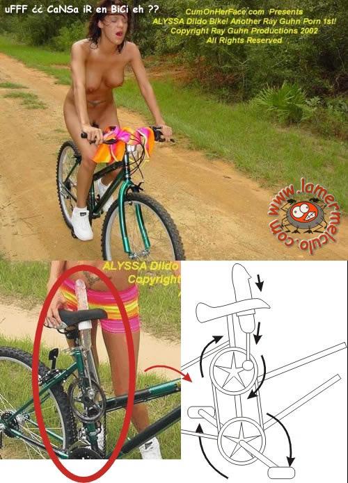 【悲報】興味本位で自転車ディルドに跨る女、野外で大胆悶絶wwwwwwwwwwwww(※GIFあり)・3枚目