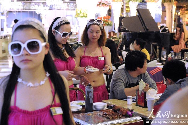 【画像あり】儲ける為に何でもヤル中国さんセクシー居酒屋を開店する。これは行きたいわwwwwww・28枚目