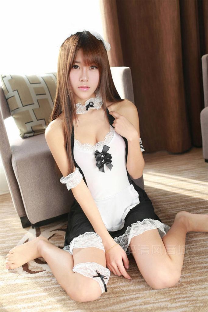 神クオリティに達してしまった台湾女子のメイドコスがエロすぎたwwwwwww(40枚)・14枚目