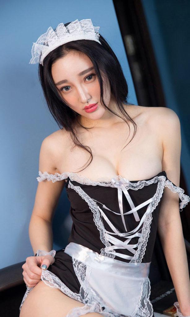神クオリティに達してしまった台湾女子のメイドコスがエロすぎたwwwwwww(40枚)・17枚目