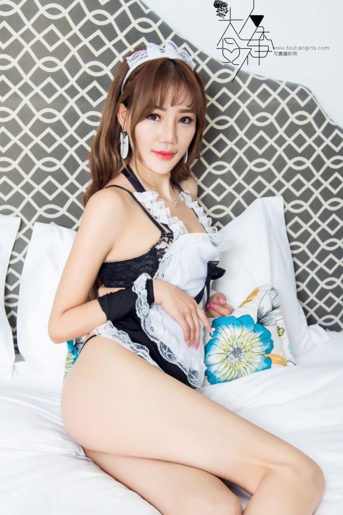 神クオリティに達してしまった台湾女子のメイドコスがエロすぎたwwwwwww(40枚)・34枚目