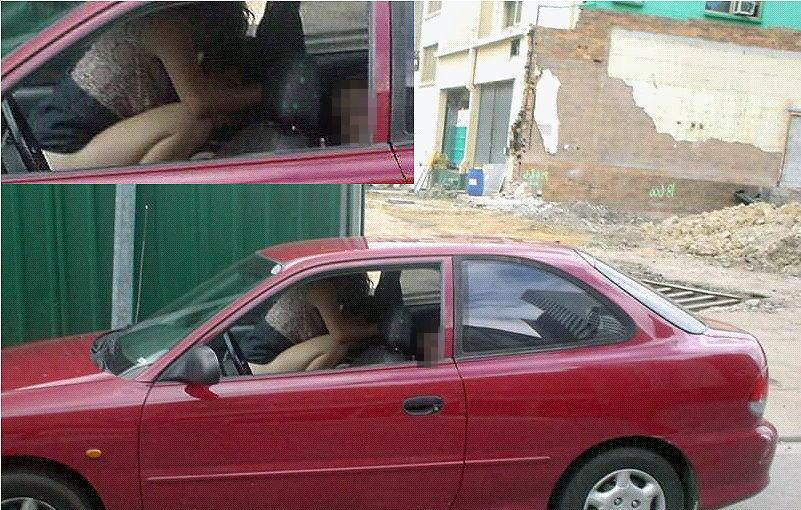 車内セックスを盗撮されたバカップルが撮影された瞬間の反応が草wwwwww(23枚)・16枚目
