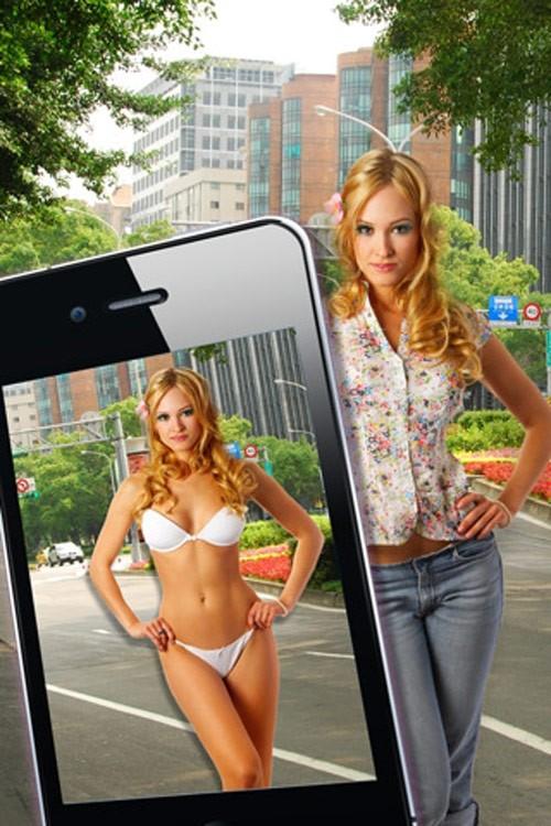 【神アプリ】女にカメラを向けると服が透ける神機能ヤバすぎワロタwwwww・18枚目