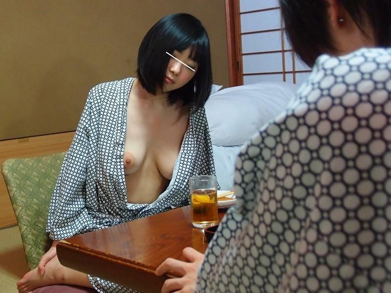 【エロ画像】「浴衣美女がノーブラだったら?」って画像が想像以上やったwwww・1枚目