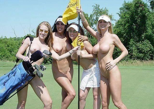 【エロ画像】富豪の ゴルフコンペ ただの露出大会になるwwwww・10枚目