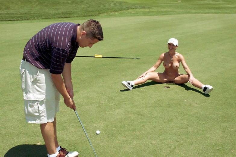 【エロ画像】富豪の ゴルフコンペ ただの露出大会になるwwwww・12枚目