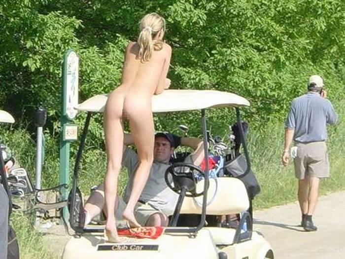 【エロ画像】富豪の ゴルフコンペ ただの露出大会になるwwwww・23枚目