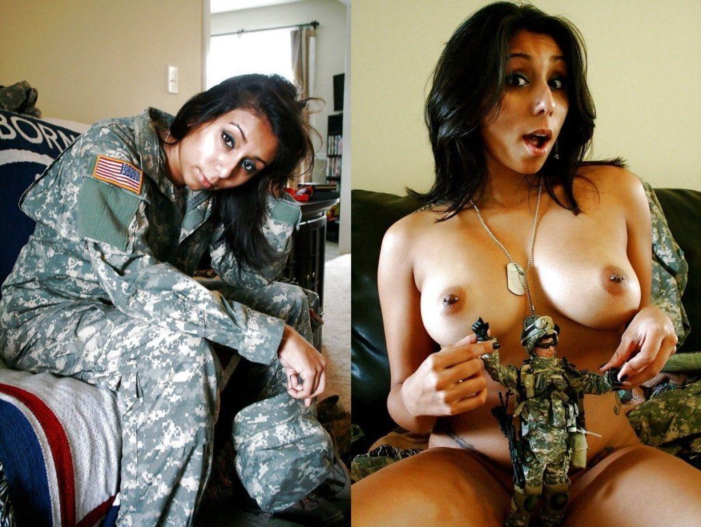 【海外エロ】兵士のまんさん、ヌードと軍服のギャップを見せつけるwwwwwww(29枚)・25枚目