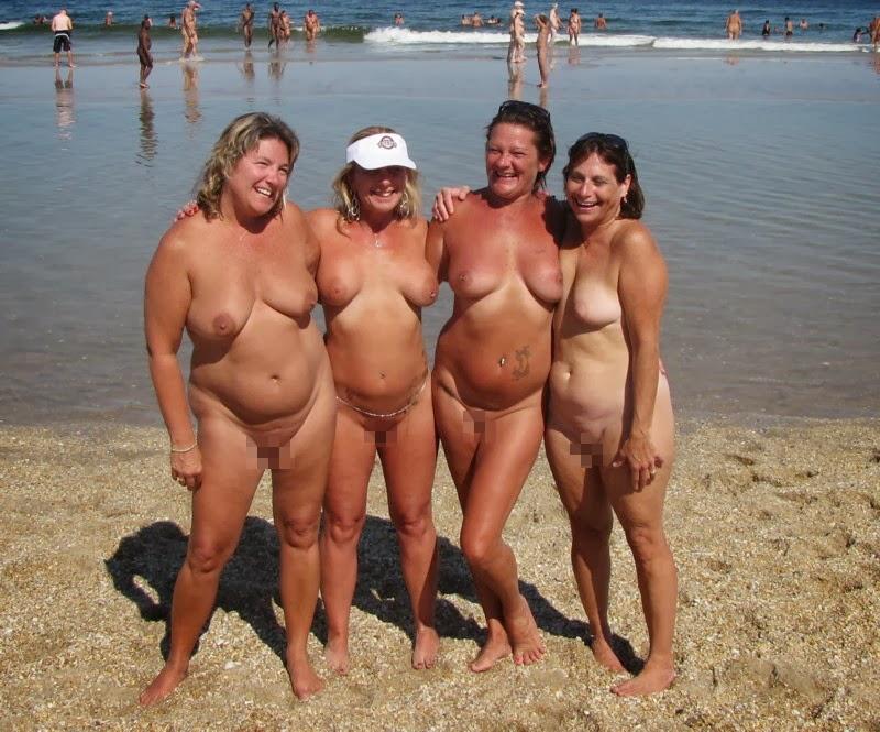 ヌーディストビーチに行ったワイ、好みのポチャ女だけ撮影して帰るwwwwwww(エロ画像)・12枚目
