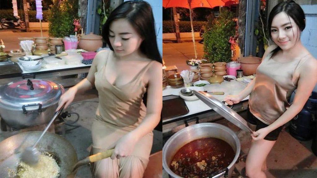 おっぱい丸出し…台湾の屋台女子の胸元をご覧ください。これは買うわwwwww(エロ画像)・21枚目