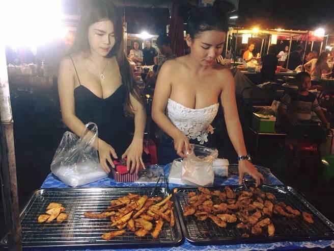おっぱい丸出し…台湾の屋台女子の胸元をご覧ください。これは買うわwwwww(エロ画像)・5枚目