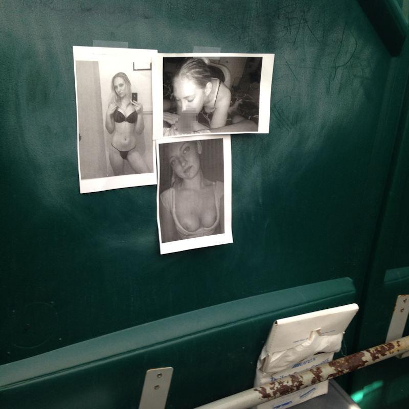 【エロ画像】エッチな写真を撮られた女さん、色んな場所に写真をバラ撒かれる・・・・16枚目