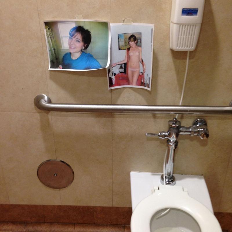 【エロ画像】エッチな写真を撮られた女さん、色んな場所に写真をバラ撒かれる・・・・22枚目