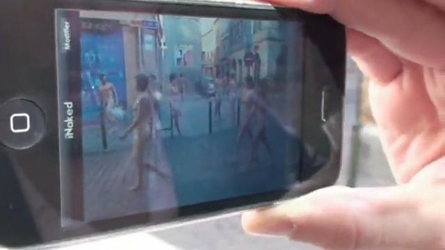 """【エロ画像】街中の女性たちが""""全裸""""に見える神アプリがあるらしいwwwwww・17枚目"""