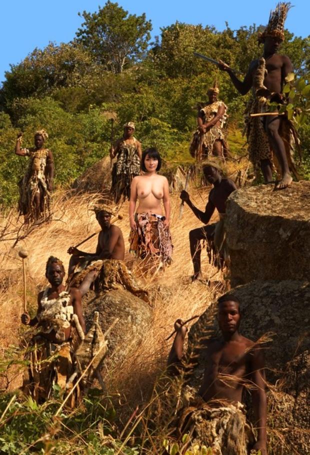 日本女VS原住民のガチンコSEX。当然のようにボロクソにされる・・・(エロ画像)・13枚目