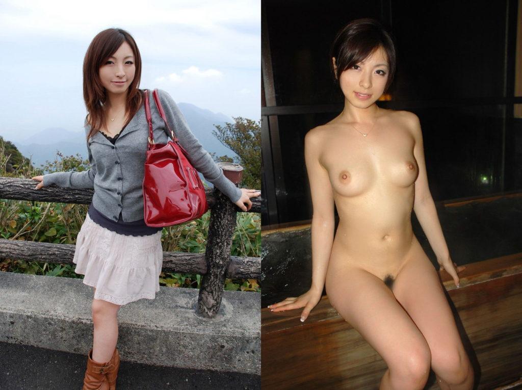 【比較エロ画像】服を着てる時・服を着てない時の女性たちをご覧くださいwwwwww・16枚目