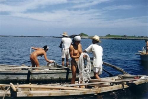 おっぱい丸出しの昔の「海女さん」自然に鍛えられた身体がこちら。(エロ画像)・12枚目