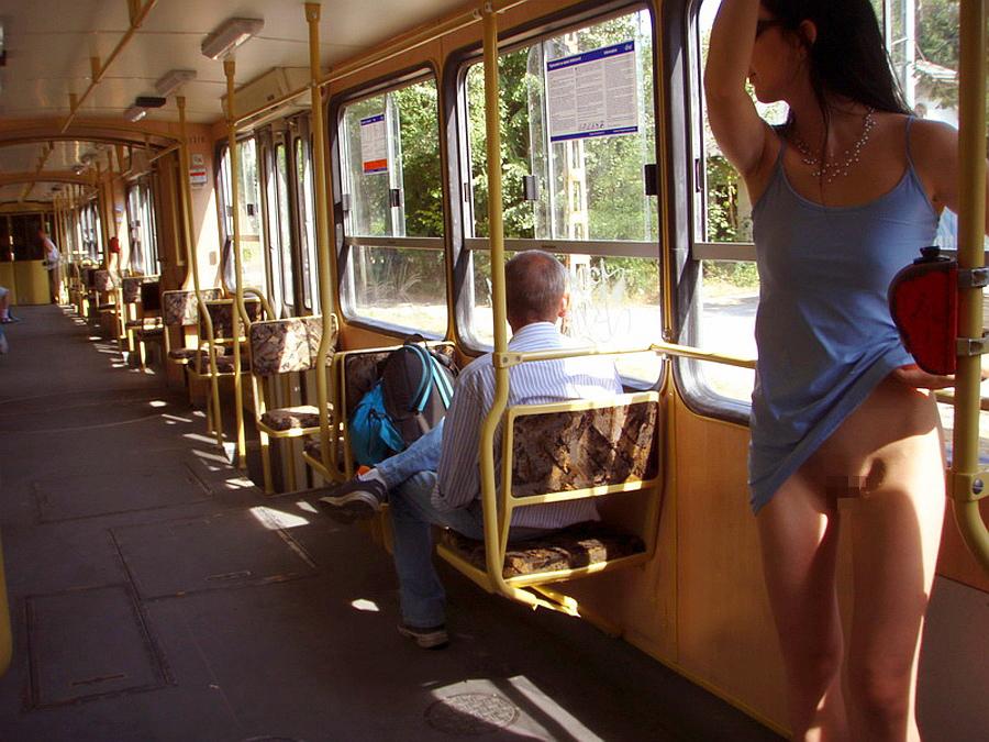 【恐怖】乗客ゼロの田舎の始発電車にマジキチ露出狂まんさん現れる・・・・21枚目