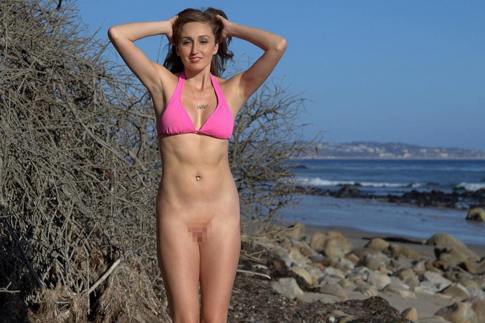 【素人】ビーチの女さん、パンツを忘れたが開き直るwwwwww(エロ画像)・6枚目