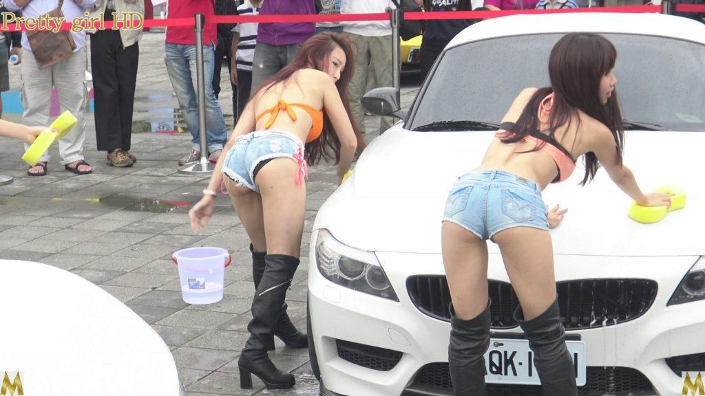 【エロ画像】身体で車を洗う「女体洗車」とかいうサービス。。・9枚目