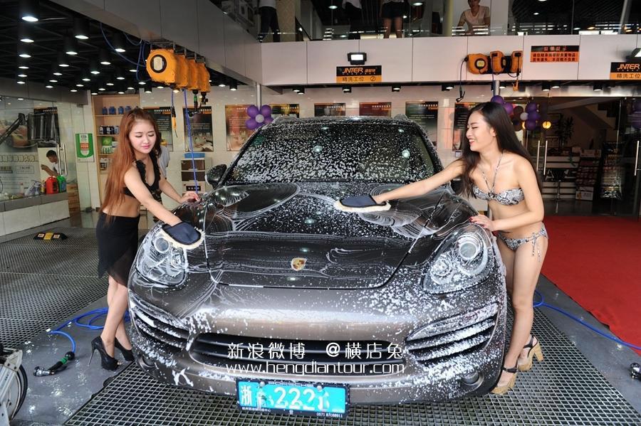 【エロ画像】身体で車を洗う「女体洗車」とかいうサービス。。・7枚目