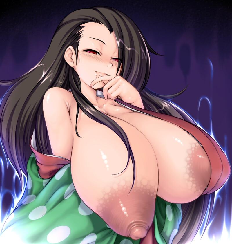 """【超乳おっぱい】一部マニアに人気な二次だからこそありえる奇形気味""""超巨乳美少女""""のエロ画像・33枚目"""